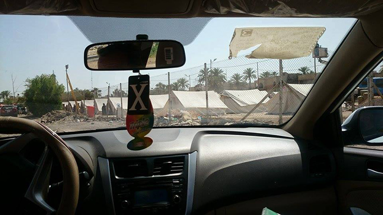 New camps for displaced Iraqis, outside of Baghdad.