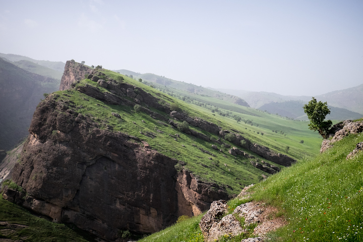 The mountains in Mawet, Kurdistan