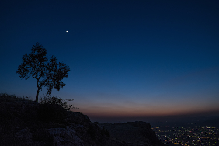 Duhok, Kurdistan, at dusk