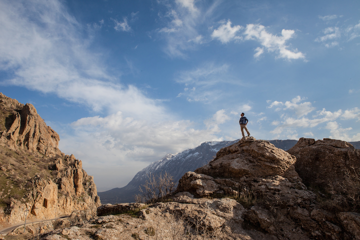 Standing atop Sara Mountain, Kurdistan