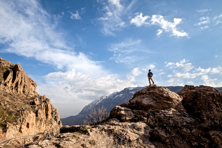 On top of the Zagros Mountains, Iraqi Kurdistan
