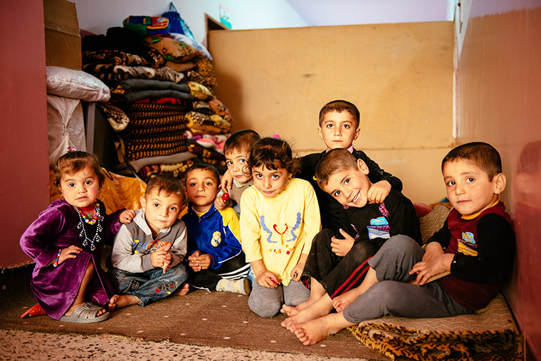 These Iraqi children are some of the lucky ones. They are displaced, but were able to find a home within a school.