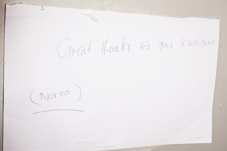 "Norea's mom posted a note in the ICU: ""Great thanks for your kind care"""