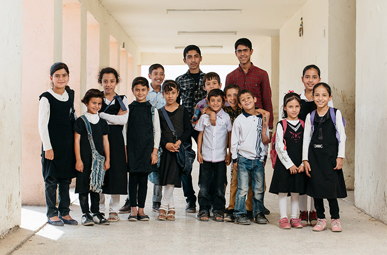 Children, displaced by ISIS in Iraq, highly value education as a means to change their future.