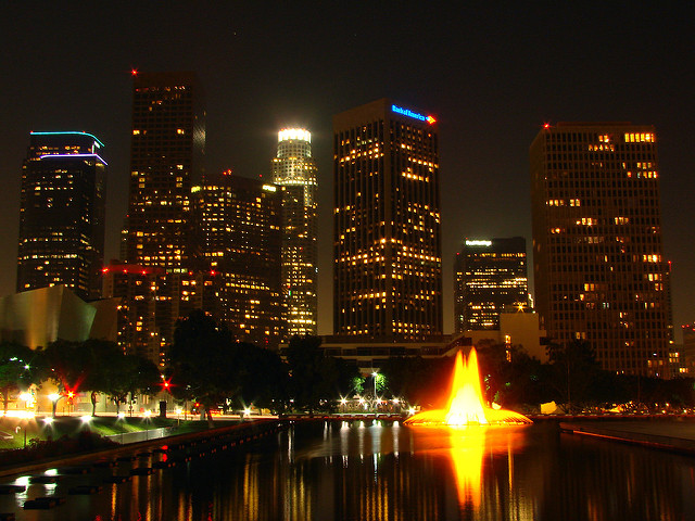 Los Angeles::Los Angeles Skyline @ Los Angeles DWP Headquarters