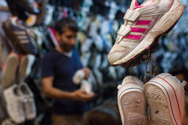 This shop keeper was himself a refugee from Iran. He gave us a great price on shoes for the children.