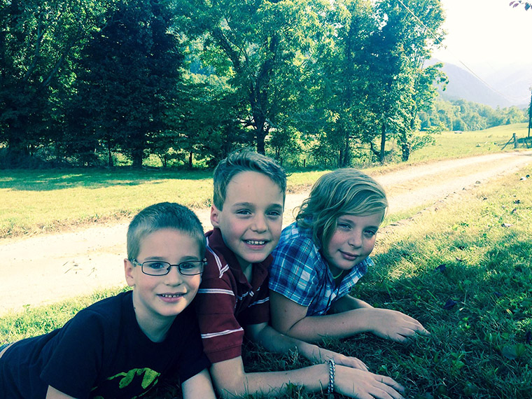 David, Isaiah and Sammy cut lawns all summer in order to help Iraqi children crushed by ISIS.