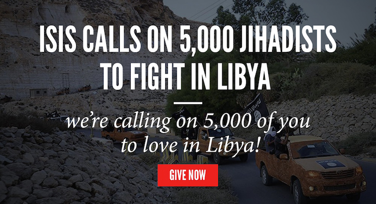 A long convoy of ISIS fighters in Derna, Libya