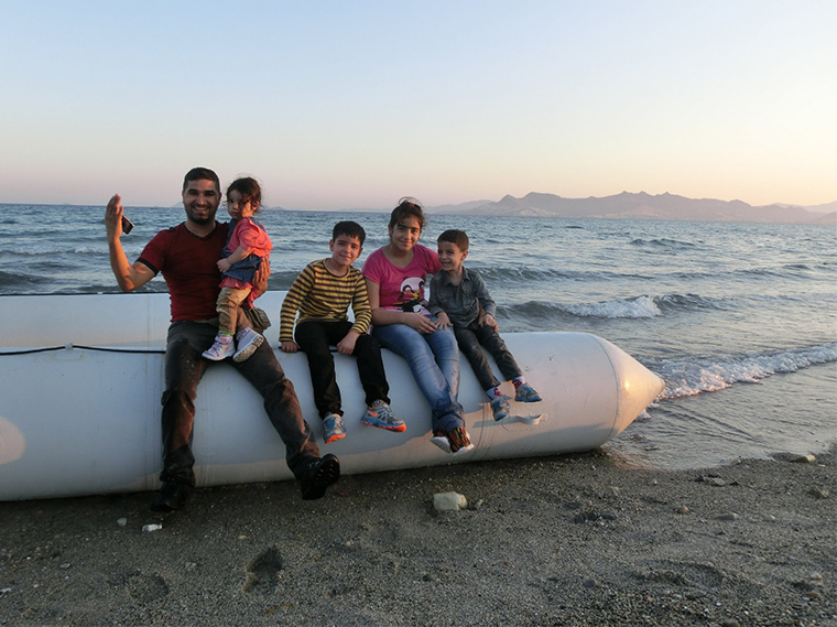 Ahmed from Baghdad, Iraq arrived to the Greek island of Kos with his family in a rubber boat which he boarded in Bodrum, Turkey. (Photo: Christopher Jahn/IFRC)