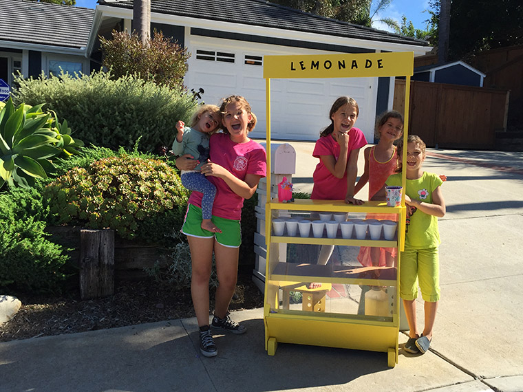 The Holsten kids pulled out all the stops, with a lemonade stand that not only delivered refreshment to neighbours, but a fresh start to Iraqi families.