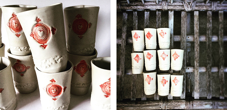 Potter Amanda Dexheimer makes beautiful clay cups to illustrate her concern for suffering women and girls in Iraq.