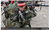 A Shia militia fighter trains for combat.