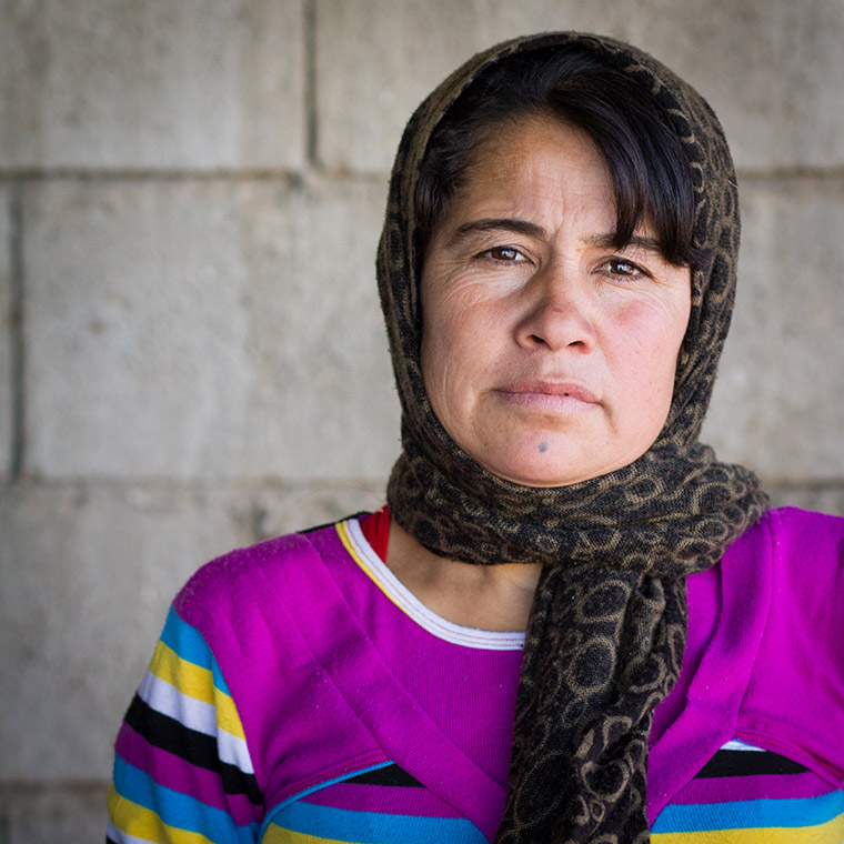Sozan, an IDP in Iraq, struggles at the end of her pregnancy.