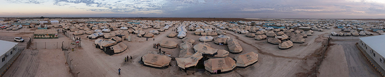 Za'atari Refugee Camp, Jordan, home to thousands of Syrian refugees.