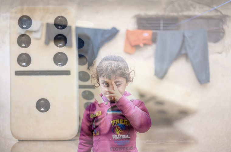 Photo of displaced child