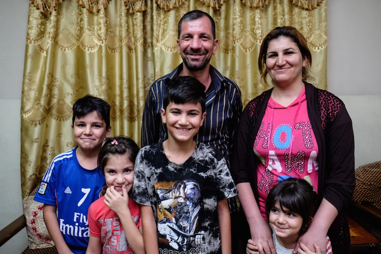 one of the Iraqi Christian families Isaac is helping support in Baghdad
