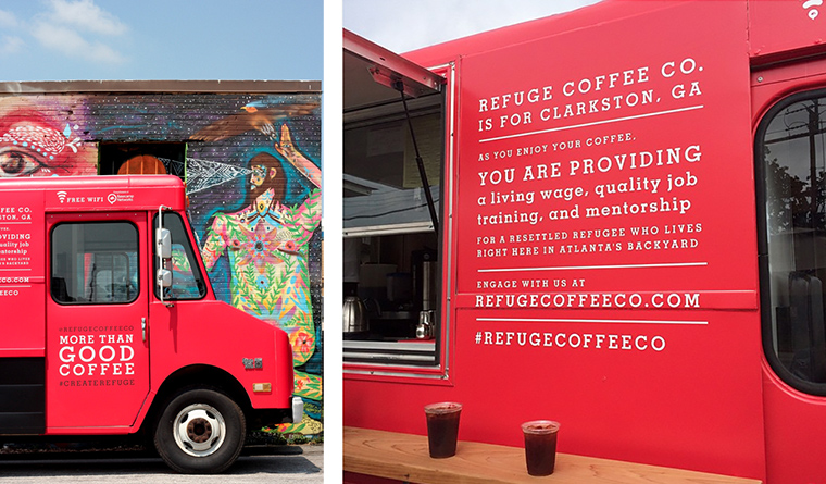 The Refuge Coffee Co. in Clarkston, GA serves the local refugee community, and now they are widening their embrace to include vulnerable people in the Middle East.