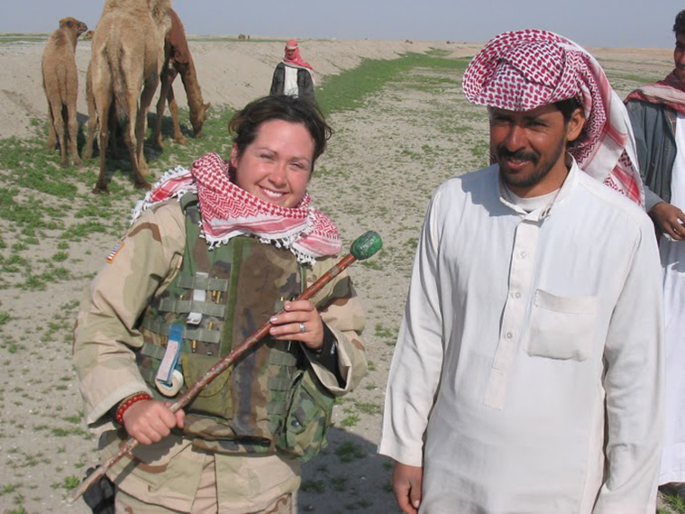 Diana Oestreich was part of the US forces in Iraq during the US invasion.